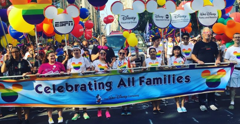 Photo of Disney & ESPN represent at the NYC Pride Parade