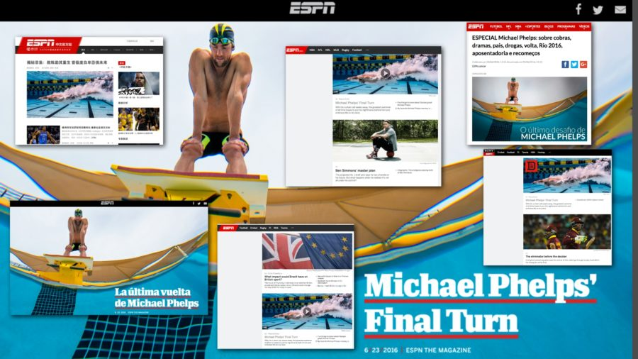 ESPN.com senior writer Wayne Drehs' profile of Michael Phelps was translated into multiple languages for the network's digital sites around the world.