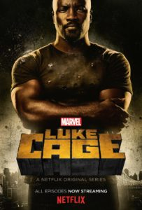 Mike Colter stars in Marvel's Luke Cage, available for streaming on Netflix. (Artwork courtesy of Netflix)
