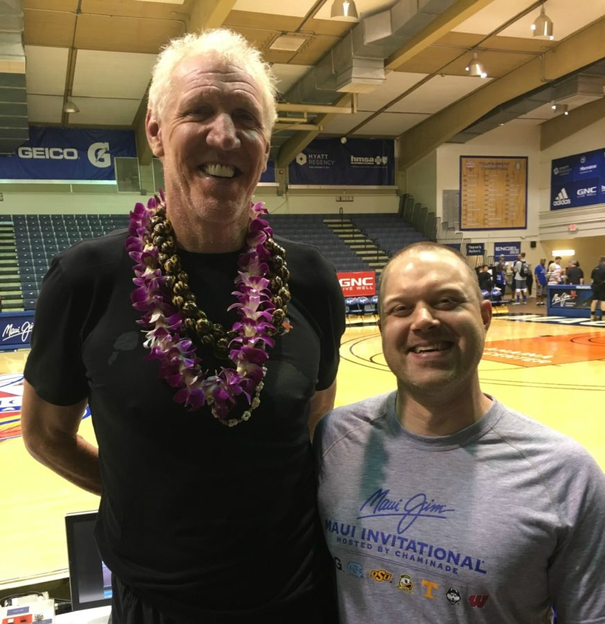 Rich Marchese realized a perk of winning the 2016 ESPN Men's Tournament Challenge - he met Bill Walton. (Photo courtesy of Rich Marchese)